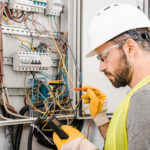 electrician carrying out electrical inspection & testing