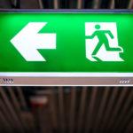 Green Emergency Lighting Sign