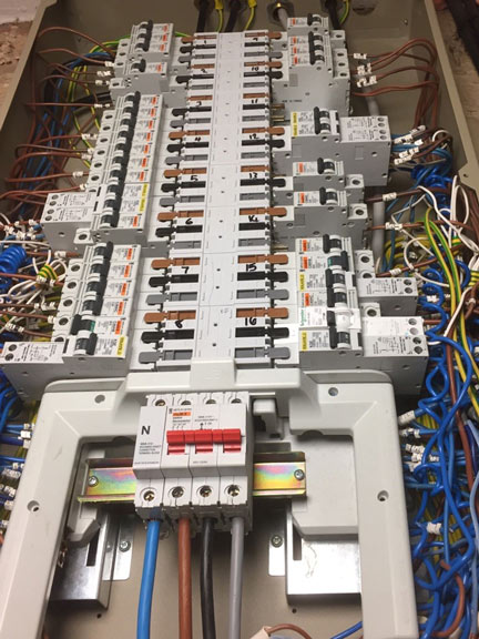 Commercial Electrical Installation with Breakers & RCD's